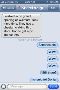 Cheetah Text